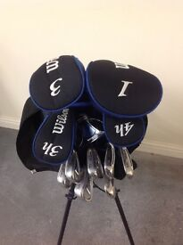 Set of Wilson Golf Clubs and stand bag