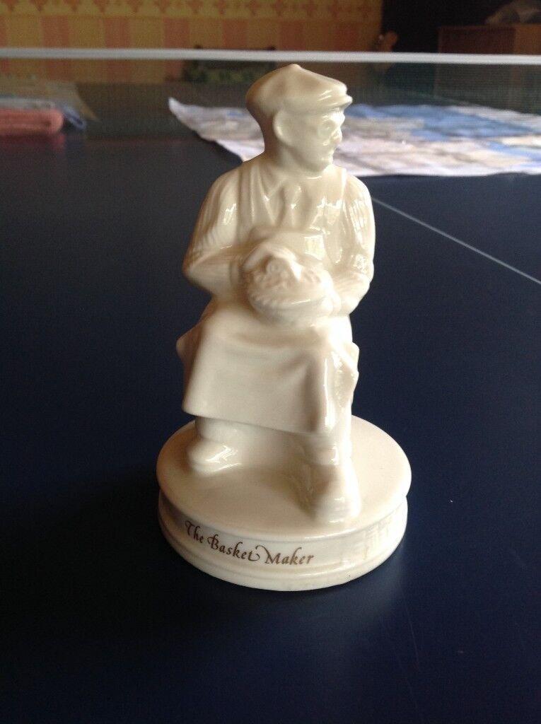 Belleek Basket Maker Figurine