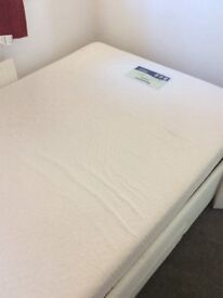 Electric double bed or two singles with mattress