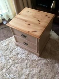 Solid pine side/lamp table
