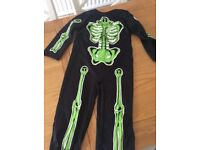 Fancy dress skeleton outfit - age 5-6