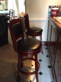 Mahogany bar stools