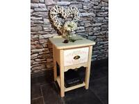 Bedside cabinet solid pine hand painted shabby chic