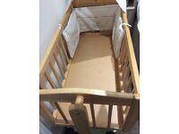 Swinging crib/cradle with airflow mattress