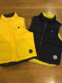 Two GAP. Body warmers aged 3 yrs - one brand new.