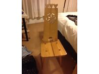 Set of 3 wooden chairs. Very sturdy