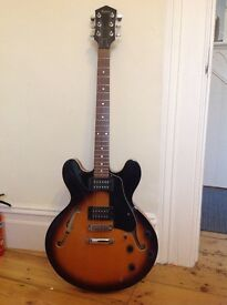 Astoria rock star semi acoustic guitar model EG 1935, Gibson 335 copy.