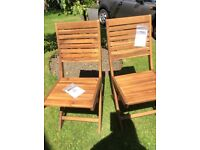 Next Solid Wood Dining/Garden Chairs, New and Boxed X 2