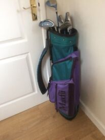 Ladies golf clubs, bag, balls