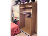 ikea double wardrobe with sliding doors (reluctant sale)