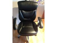Black Bonded Leather Office Chair.RRP£78
