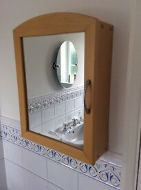 Mirrored Bathroom cabinet £12
