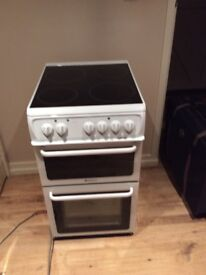 Freestanding Hotpoint electric cooker HAE51P