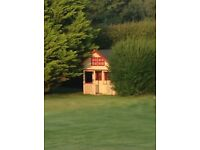Lovely Childrens Wooden Playhouse