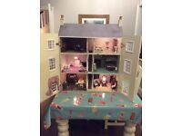 Georgian Style child kids Dolls play house Excellent