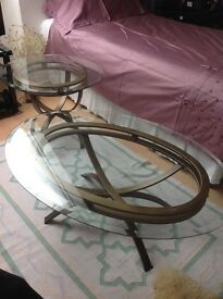 Coffee table and matching table lamp tables