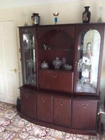 Large mahogany display cabinet