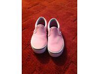 Brand new pink vans