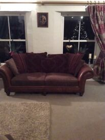 Sofas, wing chair and matching puffet