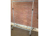 VGC STURDY HEIGHT ADJUSTABLE IKEA CLOTHES RAIL WITH CASTORS (Hanging Storage Wardrobe)