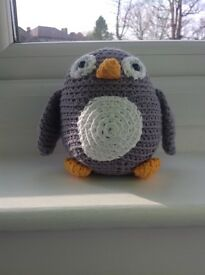 Brand New Without Tags Hand Knitted Owl