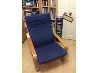 Ikea Poang Armchair (Blue)