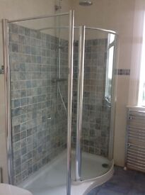 Daryl Shower enclosure and base.