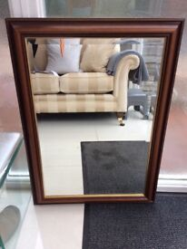 Large wall mirror bevelled glass