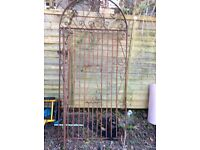 VERY OLD TALL WROUGHT IRON GARDEN GATE