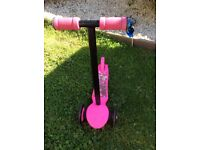 Childs pink scooter