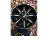 "17"" Black alloy wheel Mini Cooper s"