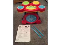 Carousel Electronic Drum Kit with instructions - age 3+ - £5
