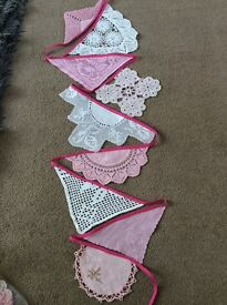 3M Pink Doily Bunting.