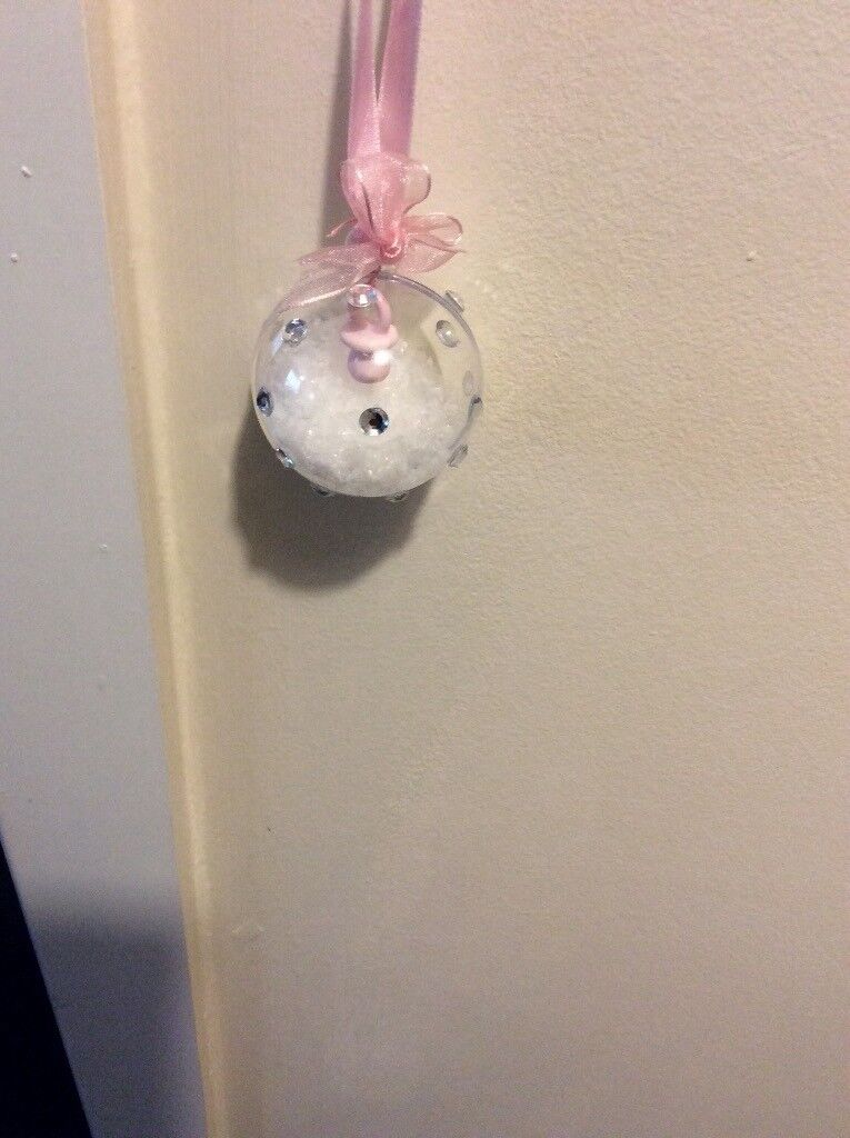 Handmade Mini Christmas baubles,would also suit as pram decorations