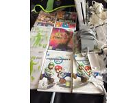 Nintendo Wii Console and Games Bunddle