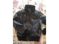 Ladies real leather jacket xl