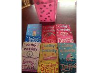 Set of 6 Cathy Cassidy books in a pink presentation bag