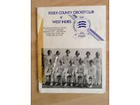 A Centenary Programme of the Essex v West indies Cricket Tour Match in 1976