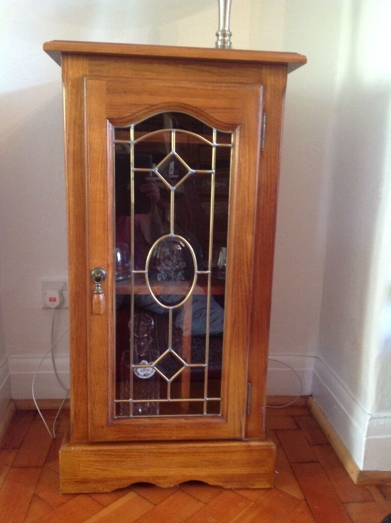 Lovely solid wood display cabinetin Whitchurch, CardiffGumtree - Lovely solid wood display cabinet, which can also be used as audio cabinet, with leaded glass doors. Purchased at Leekes Llantrisant, cost over £300.00 Lovely piece of furniture