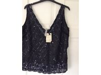 Gorgeous size 14 even sequined top cost £50