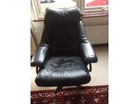 Leather chair black swivel