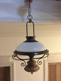 Vintage style large pendant lantern
