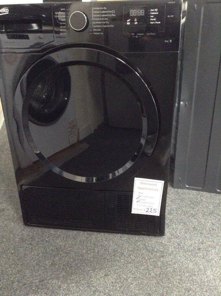 Beko black 8kg condensing dryer. £225 12 month Gtee