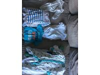 Baby boys clothes bagged in sizes