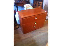 3 drawer chest , size L 33 in D 17 in H 26 for