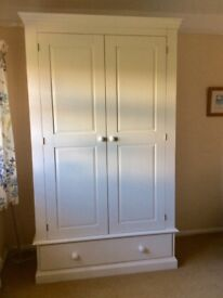 Wardrobe, ivory. Really good condition.