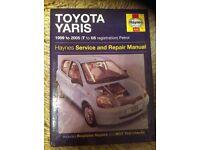 Haynes Workshop Manual For Toyota Yaris 99-05