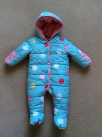 Baby girls Joules snowsuit age 3-6 months
