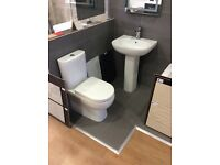 Ex display lilly WC and basin complete with waterfall basin mixer