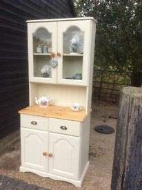 Shabby Chic Solid Pine Small Glazed Dresser Painted in Farrow and Ball